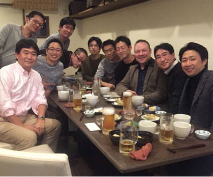 Drink with Shizuoka Cancer Centre staff
