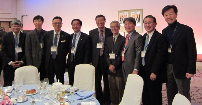 JSCP welcome reception with Prof Kazuo Hase and South Korean surgeons