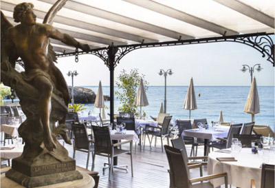 Castel Plage Restaurant looking over sea