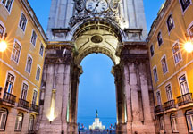 Grand arch in Lisbon