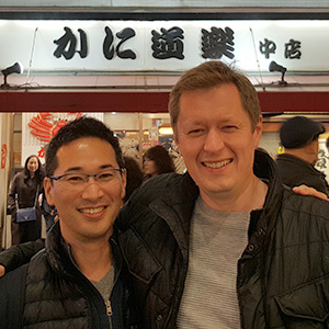 Fraser Smith and Dr Uemura in Osaka