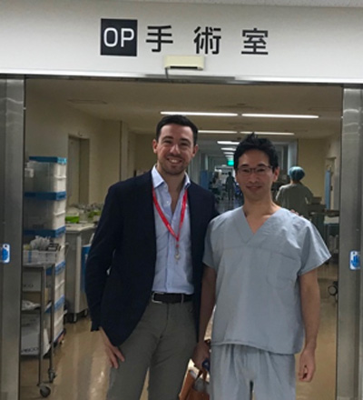 Gaetano Gallo with Dr Uemura at Osaka National Hospital